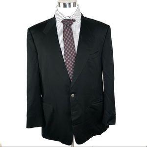 Canali Mens Black blazer size 46R 100% wool